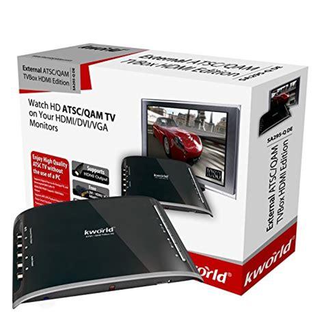 Tv Tuner Inforce kworld hdmi dvi vga qam atsc external digital tv tuner box hdtv buy in uae