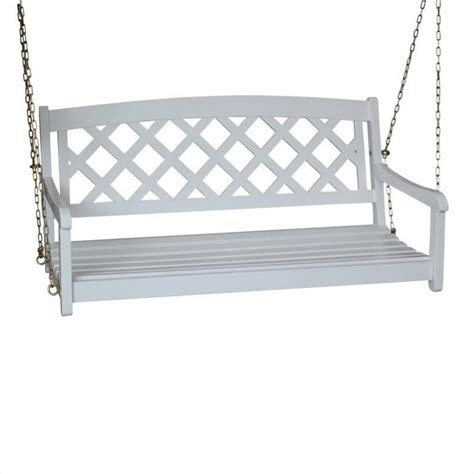 Back Porch Swing international concepts 2 seat x back porch swing white ebay