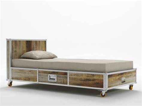 ruote letto letto singolo con ruote idee di design per la casa