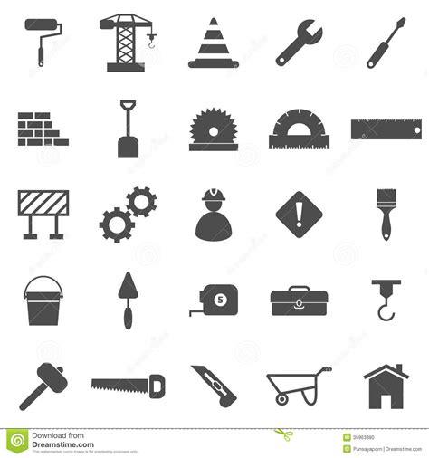 Construction Plan Symbols construction icons on white background stock photo image