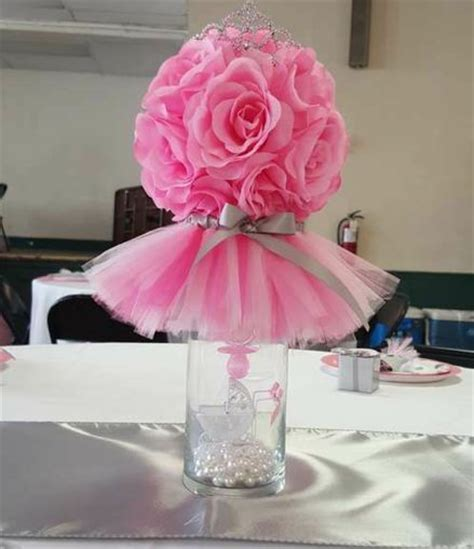 Vase Centerpieces For Baby Shower by 1000 Ideas About Tutu Centerpieces On