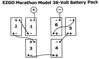 wiring battery banks in ez go marathon 36 volt golf carts wiring diagrams 36 and 48 volt battery