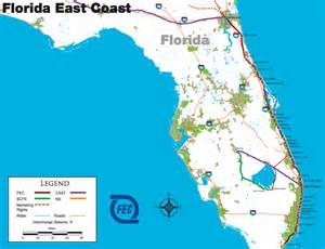 map of eastern florida coast deboomfotografie
