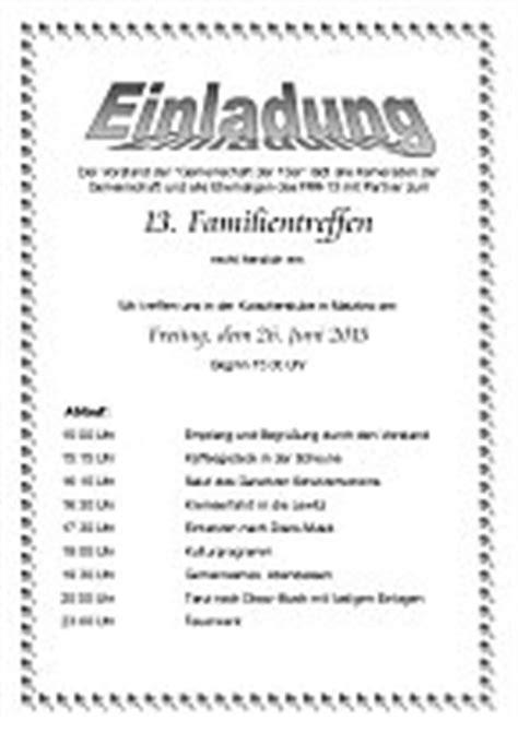 Muster Einladung Treffen 13 Ft