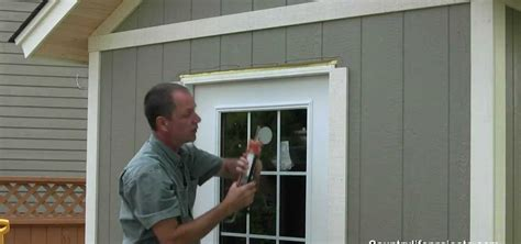Installing A Window In A Shed by How To Build A Shed Part 15 Installing Exterior Wood