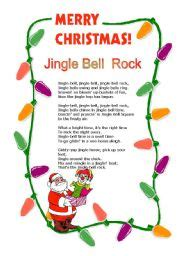 printable lyrics jingle bell rock english teaching worksheets jingle bell rock