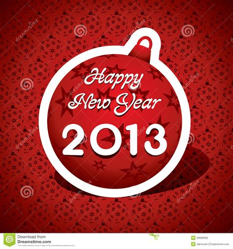 new year greeting card 2013 stock photography image