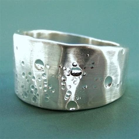 Silver Tapered Bow Ring wide tapered shoreline ring in sterling silver elizabeth jewelry
