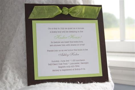 Handmade Baby Shower Invites - 10 best images about bridal shower invitations on