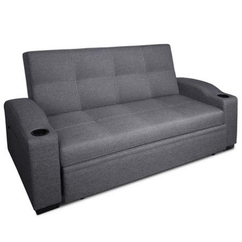 gray pull out couch 3 seater pull out sofa bed lounge couch grey crazy sales