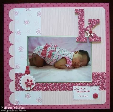 baby scrapbook layout exles 17 best images about scrapbooking on pinterest