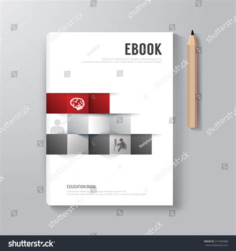 vector layout book cover book digital design minimal style stock vector