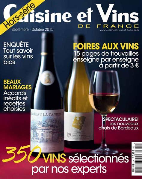 cuisine et vin abonnement cuisine et vins de hors s 233 rie pas cher