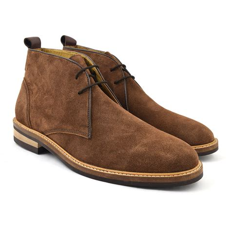 buy mens brown suede desert boots gucinari design