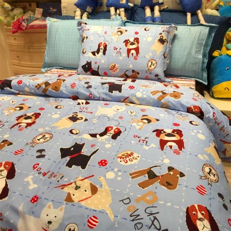 3 piece kids bedding set puppy family duvet cover bed