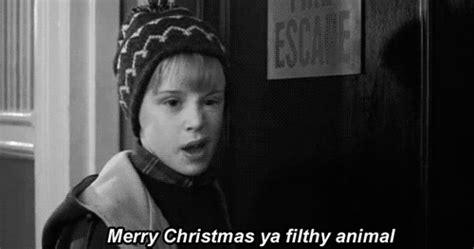 Merry Christmas You Filthy Animal Meme - merry christmas gif find share on giphy