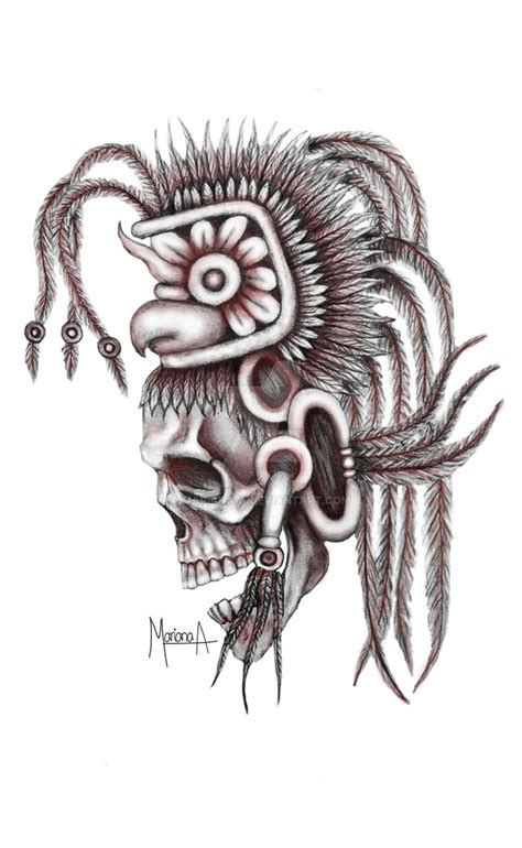 mayan skull by mariana a on deviantart