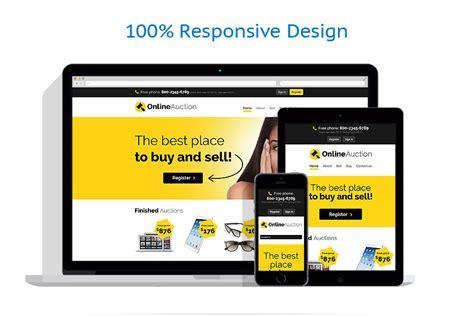 Auction Templates Website Template 53883 Templates Com Auction Site Template