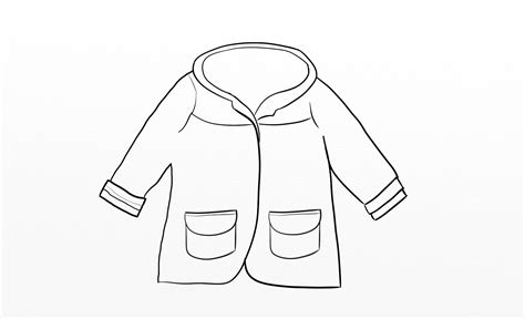 coat template the gallery for gt raincoat outline