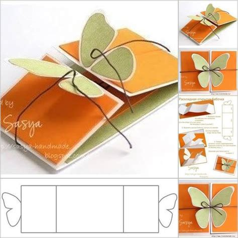 Paper Craft Greeting Cards - do you like this butterfly greeting card follow the