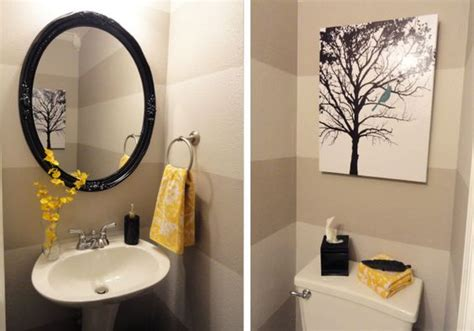 yellow and grey bathroom decorating ideas grey and yellow powder room i wanted something bright and