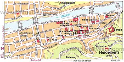 map heidelberg germany 10 top tourist attractions in heidelberg planetware