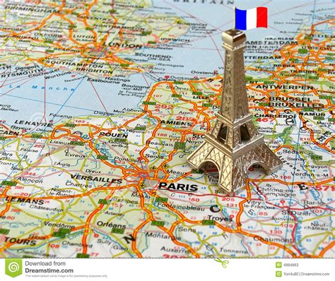 Map A4 Bunga Eiffel 10 eiffel tower on map stock image image of monument