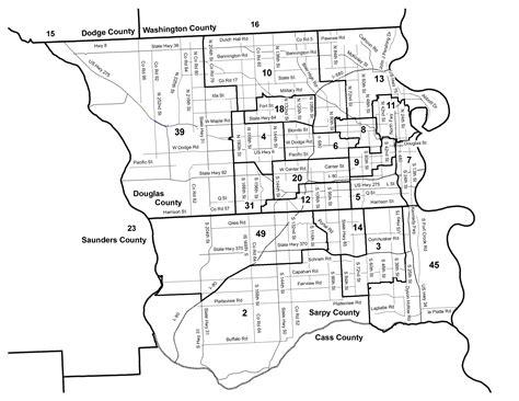 omaha zip code map nebraska legislature maps clearinghouse