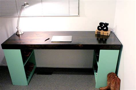 homemade desk back to diy office desks for the modern home