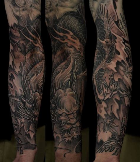 dragon forearm tattoo chronic ink toronto on the