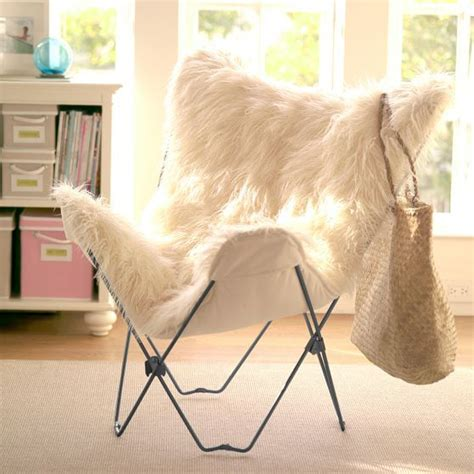 Fuzzy Chair Covers by Faux Fur Butterfly Chair Cover Furniture And Interiors