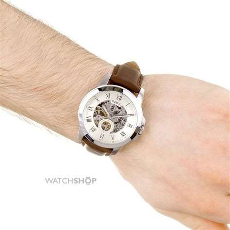 Fossil Grant Automatic Brown Me3099 s fossil grant automatic me3052 shop