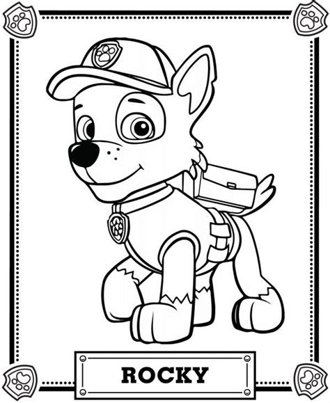 paw patrol coloring pages full size rubble paw patrol coloring pages coloring pages