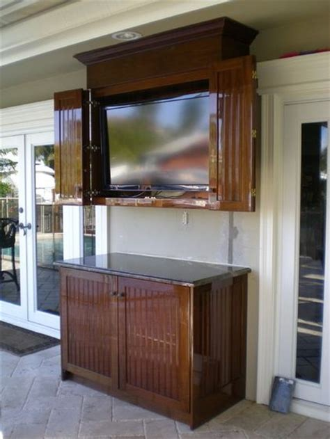 traditional patio tv cabinet backyard design pinterest