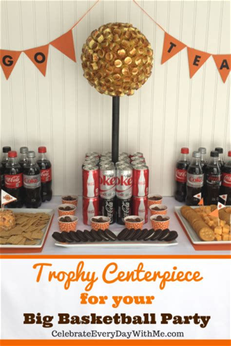 Diy Trophy Centerpiece For Big Basketball Party