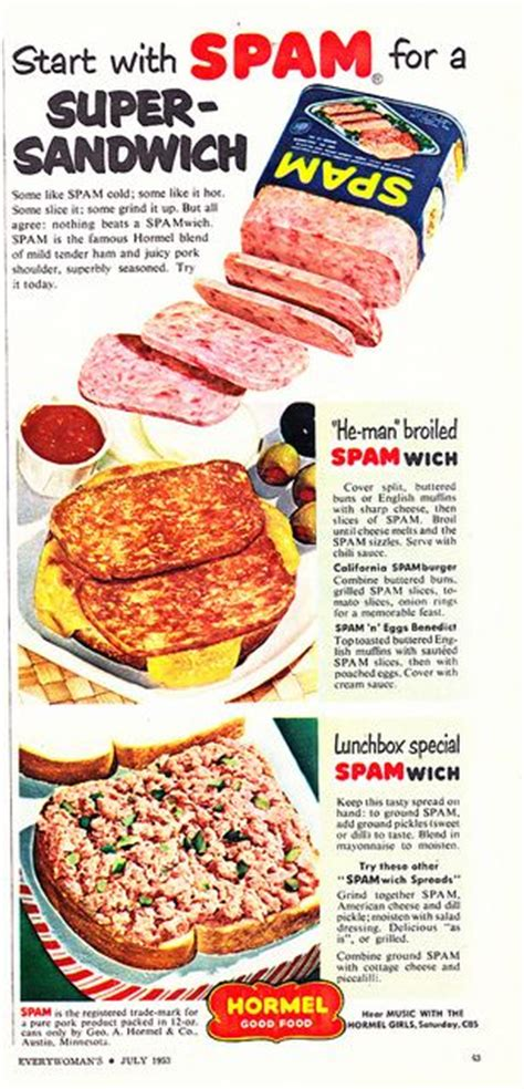 broil dogs quot he quot broiled spamwich vintage adverts