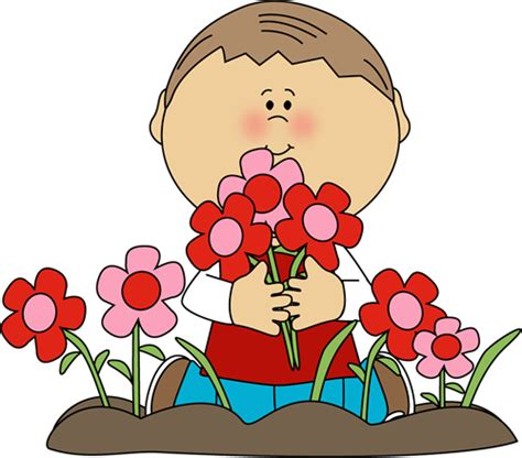 s day boy boy picking s day flowers clip boy picking