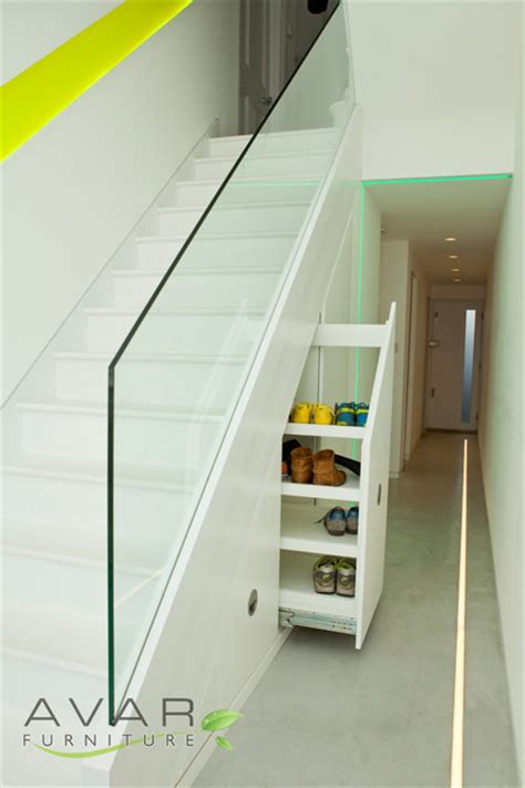 understairs shoe storage stairs storage solution contemporary staircase