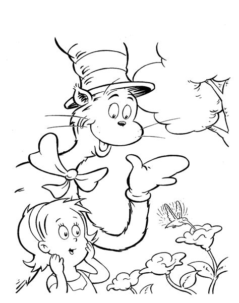 cat in the hat coloring pages momjunction cat in the hat pictures to print coloring home