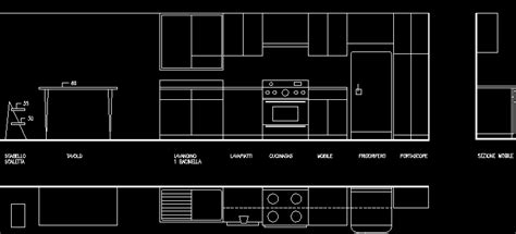 kitchen layout plan  autocad  cad