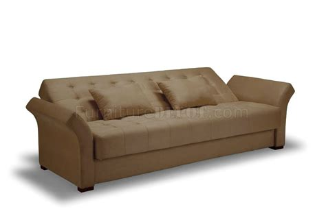 sofa bed click clack click clack sofa bed convertible in delux khaki microfiber