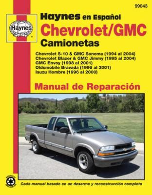 auto repair manual free download 2004 chevrolet blazer on board diagnostic system spanish language chevrolet gmc manual de reparacian 1994 al 2004 s 10 sonoma blazer jimmy