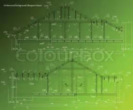 Draft A Blueprint Of Your Dream Home house facade on green background vector blueprint vector