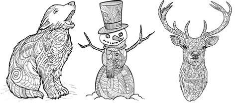 winter a grayscale coloring book books libro da colorare per adulti animali invernali favolosi