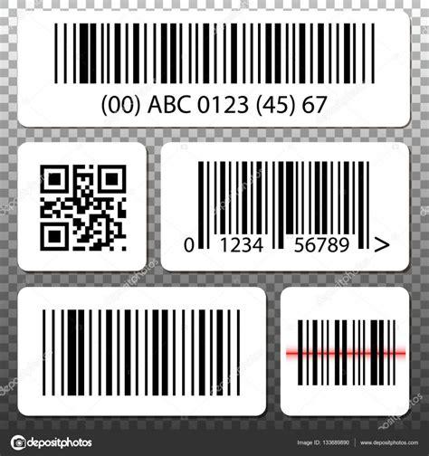 St Barcode White 설정 바코드 및 qr 코드 투명 배경에 흰색 스티커 스톡 벡터 169 cosmic pony 133689890