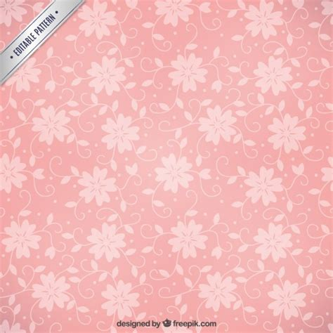 pink pattern free vector pink floral pattern vector free download