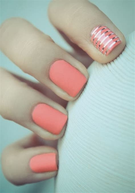 easy nail art with one color fingernail designs