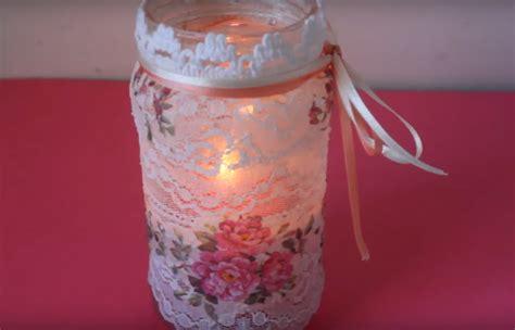 como decorar tus frascos recicla tus frascos de vidrio con decoupage y puntillas