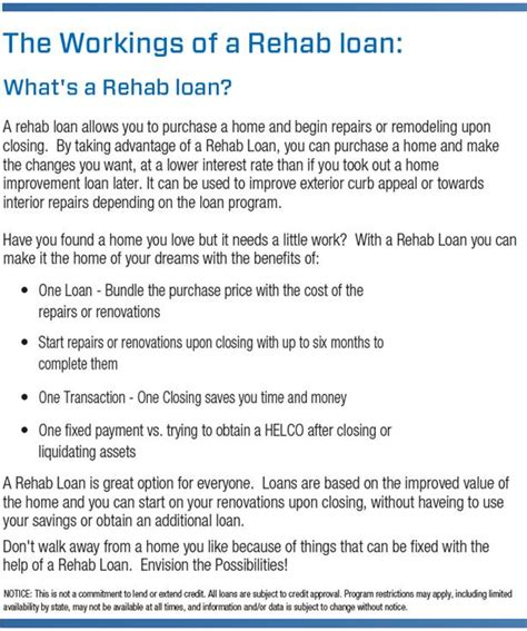 rehab loan for house what is a rehab loan for a house the workings of a rehab loan what s a rehab loan