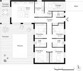 plan en l avec 4 chambres ooreka